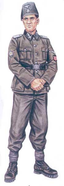 Униформа 13-й ваффен-горнострелковой дивизии СС