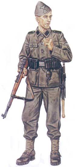 Униформа 23-й горнострелковой дивизии СС