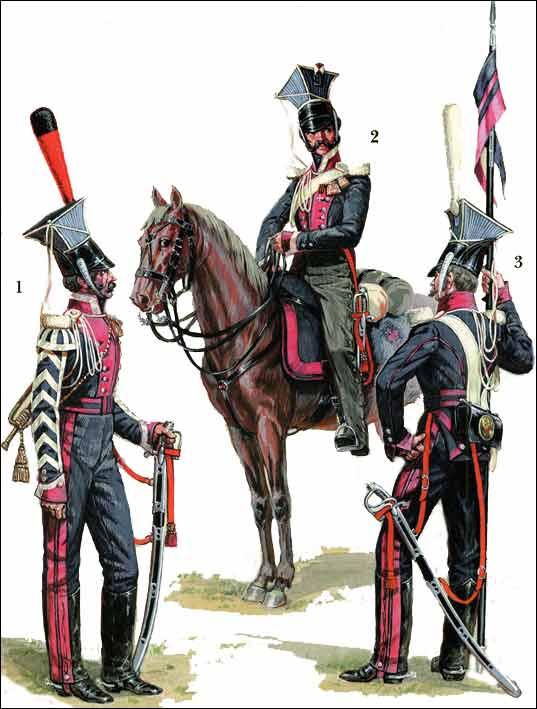 Униформа армейских улан Российской империи 1812 г.