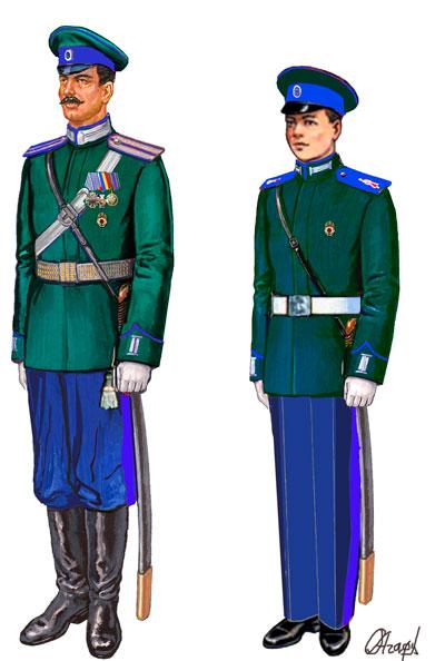 Парадная летняя форма казака Оренбургского войскового казачьего общества