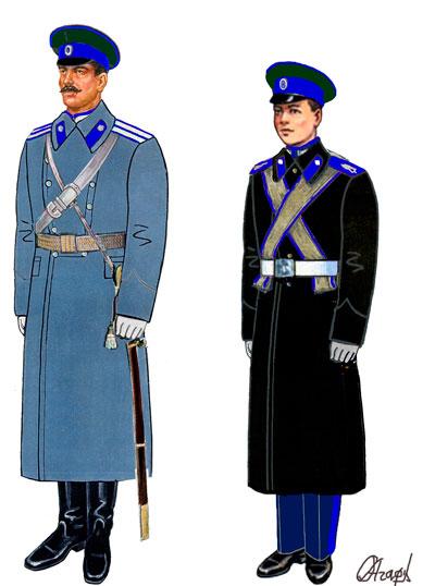 Парадная зимняя форма казака Оренбургского войскового казачьего общества