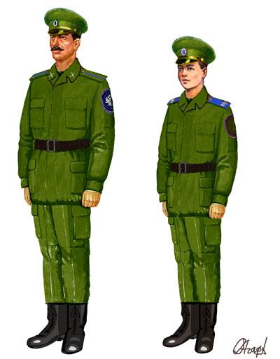Полевая летняя форма казака Оренбургского войскового казачьего общества