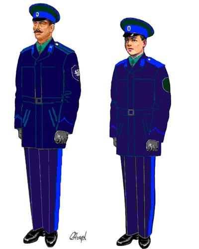 Повседневная демисезонная форма казака Оренбургского войскового казачьего общества