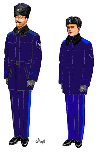 Повседневная зимняя форма казака Оренбургского войскового казачьего общества