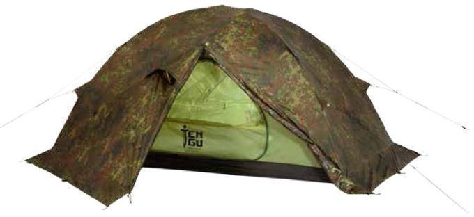 Палатка на базе высокогорной альпинистской палатки Tengu MK1.08T3 камуфляж, Палатки двухместные - арт. 370830320