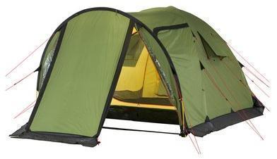 Четырехместная кемпинговая палатка с большим тамбуром и тремя входами KSL Campo 4 Plus 6153.4201, Палатки четырехместные - арт. 276820322