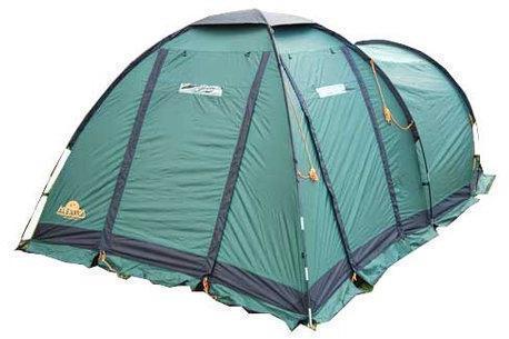 Четырехместная кемпинговая палатка с большим тамбуром Alexika Nevada 4 зеленый, Палатки четырехместные - арт. 316050322