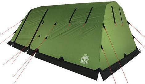 Купить Кемпинговая палатка с двумя входами и большим тамбуром KSL Vega 5 зеленый