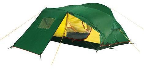 Двухместная трекинговая палатка с большим тамбуром Alexika Freedom 2 Plus зеленый - артикул: 484430320
