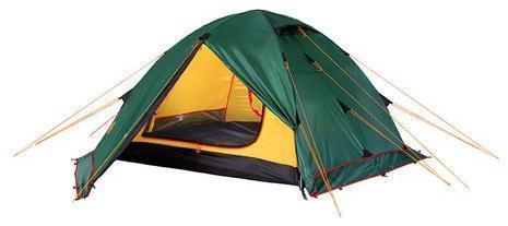 Универсальная четырехместная туристическая палатка с двумя входами и двумя тамбурами Alexika Rondo 4 Plus зеленый, Палатки четырехместные - арт. 316020322