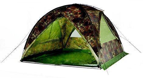Устойчивый даже без ветровых оттяжек купол-шатер используется для организации кухни-столовой или склада Tengu Mark 66T 7157.4121 - артикул: 281720324