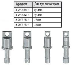 Алюминиевые наконечники под люверсы для алюминиевых дуг Lock Tips ALU 8.5 9551.0811