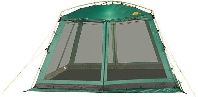 Большой каркасный тент для размещения столовой или кухни Alexika China House зеленый