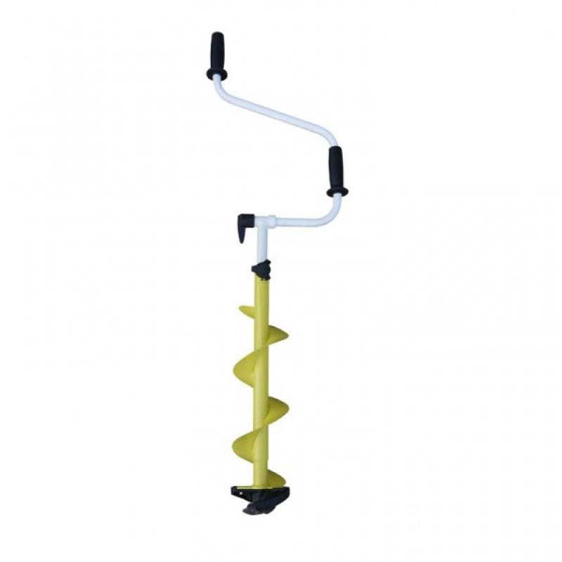 Ледобур ICEBERG-MINI 130(R) v2.0 двуручный, телескопический, правый, полукруглые ножи - артикул: 993180227