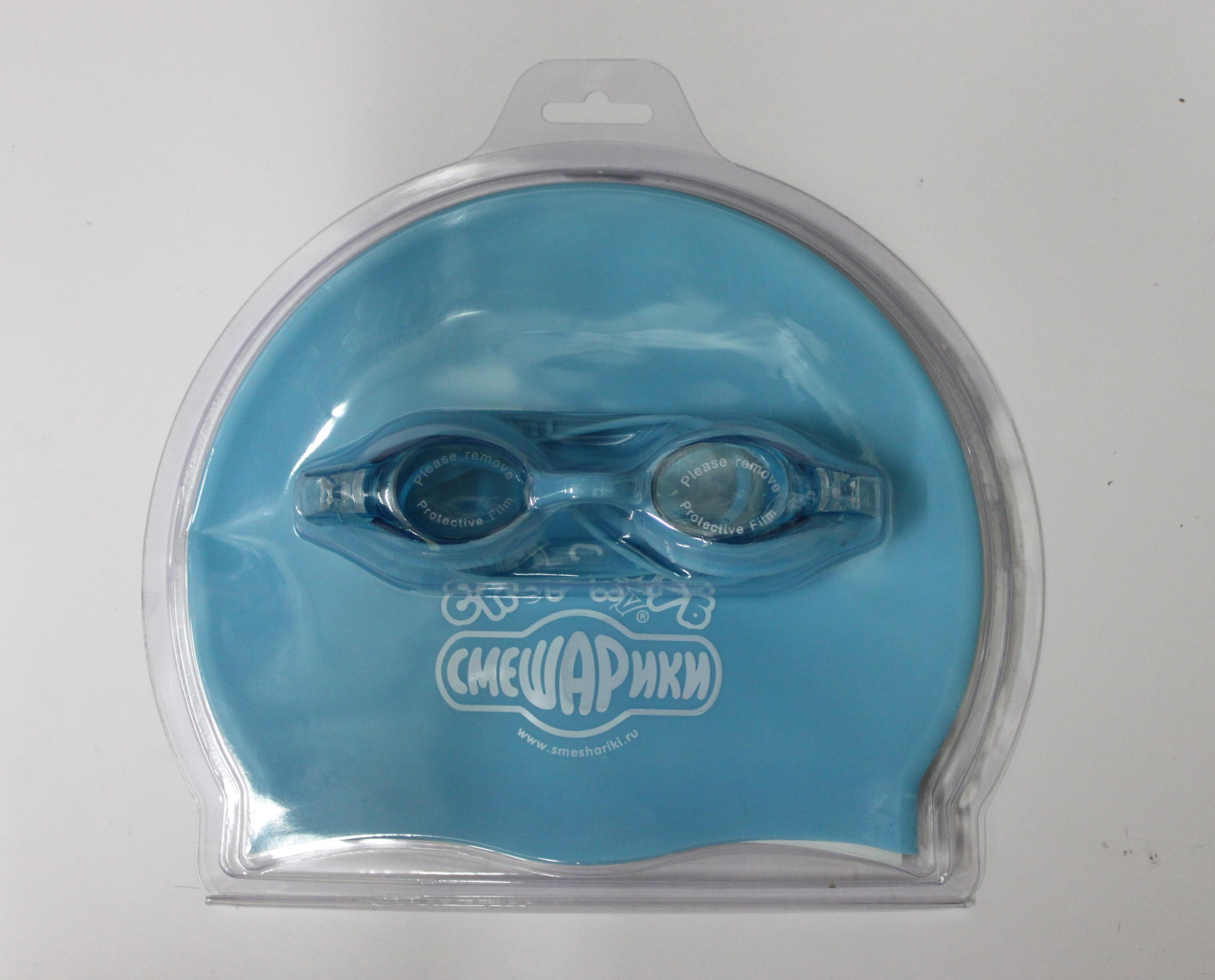 Набор для плавания Смешарики (очки+шапочка) 3-KC