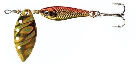 Блесна вращ. DAIWA Silver Creek Spinner-R 1120 Holo Akakin (10000028)