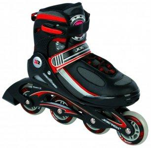 Роликовые коньки JOEREX RO0605 раздвижные (красный/черный)