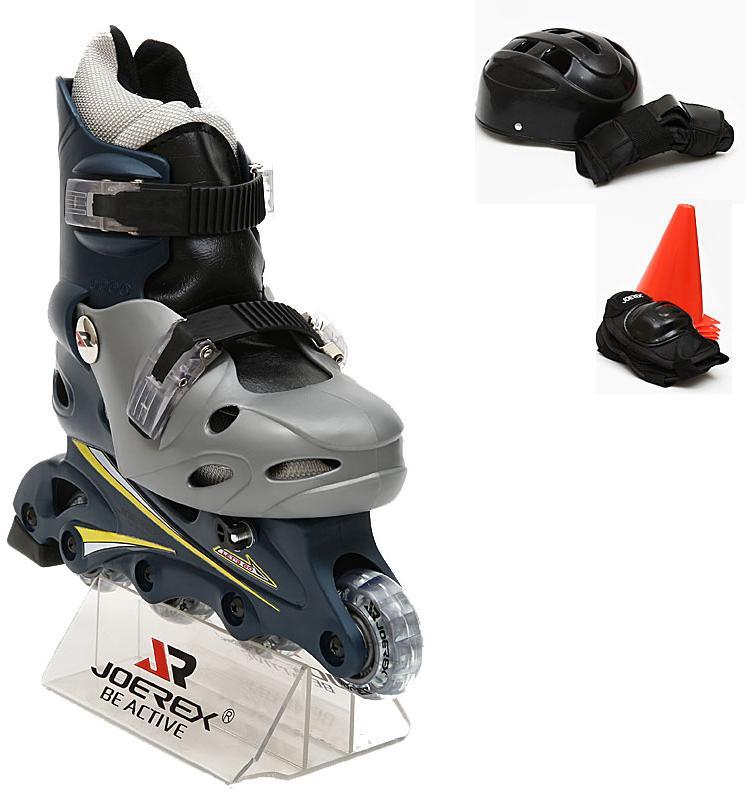 Роликовые коньки JOEREX RO0306 набор (синий/серый), Роликовые коньки - арт. 198990430