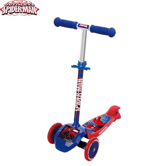 Самокат Twist Spider- Man DCA31137-S (два колеса спереди и сдвоенное сзади), Самокаты - арт. 808000433
