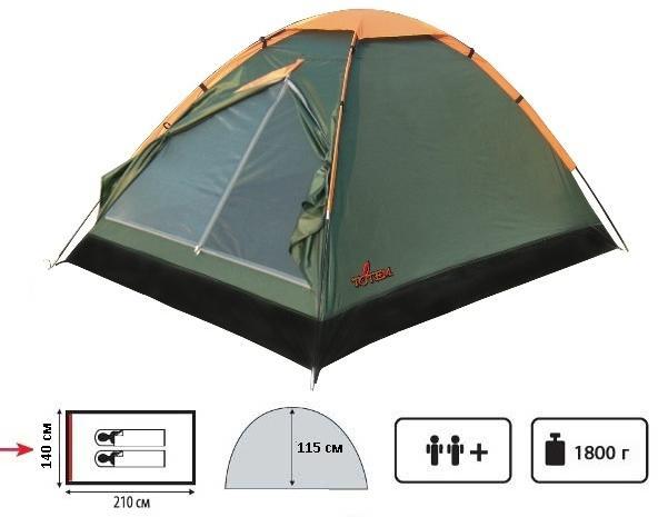 Палатка Totem Summer TTT-002.09, Палатки двухместные - арт. 389130320