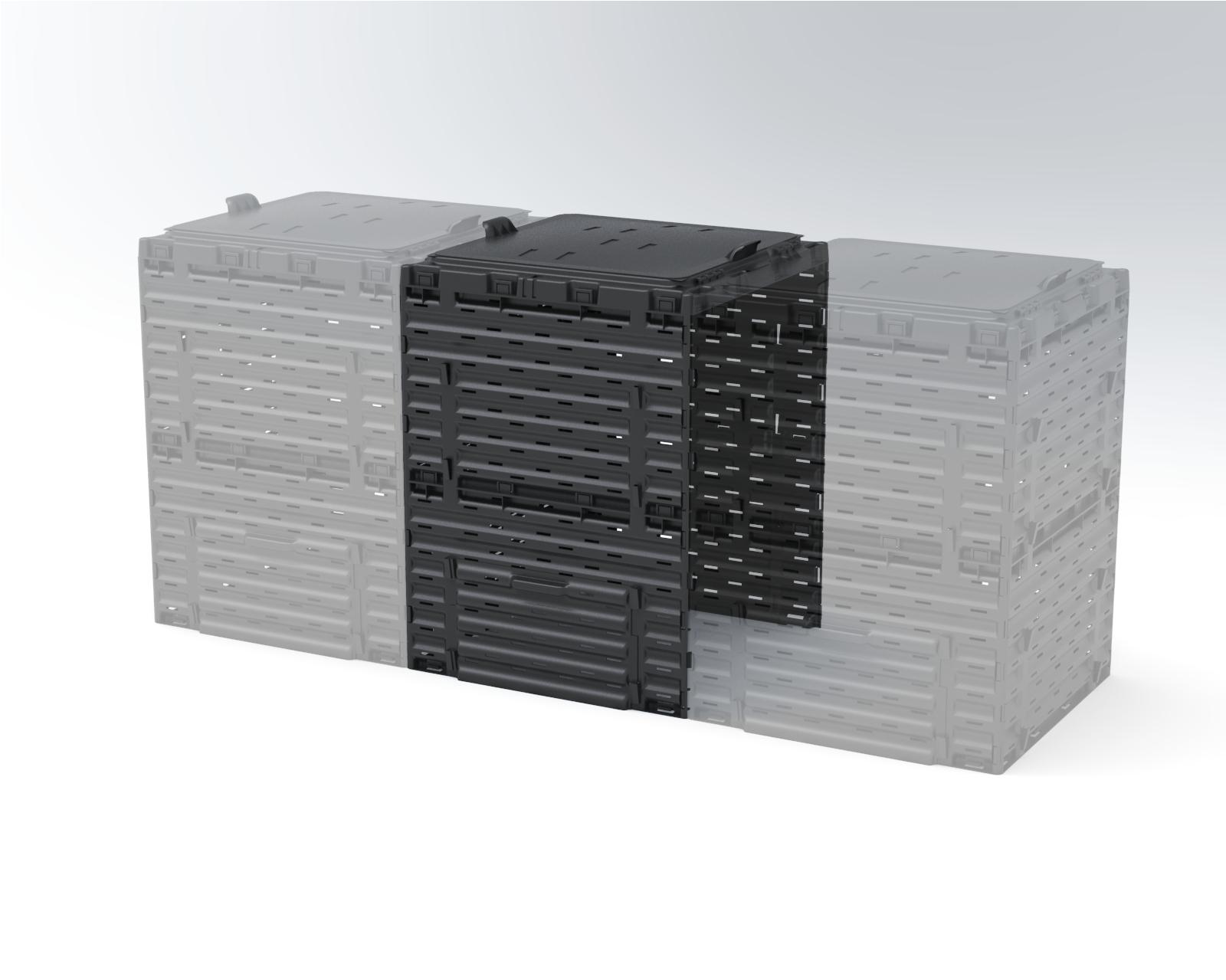 Соединитель для компостера садового Piteco 300 л K1030 чёрный, Биотуалеты - арт. 829310225