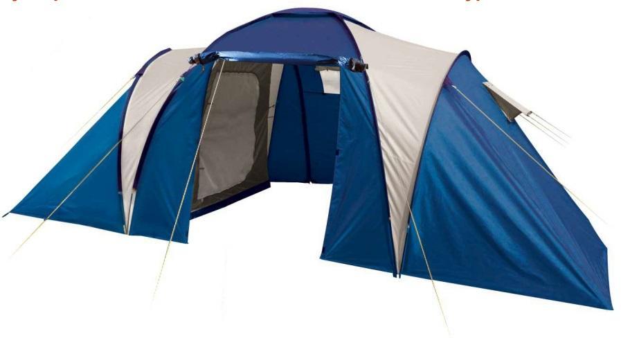 Палатка Trek Planet Toledo Twin 4 (70116), Палатки четырехместные - арт. 536830322