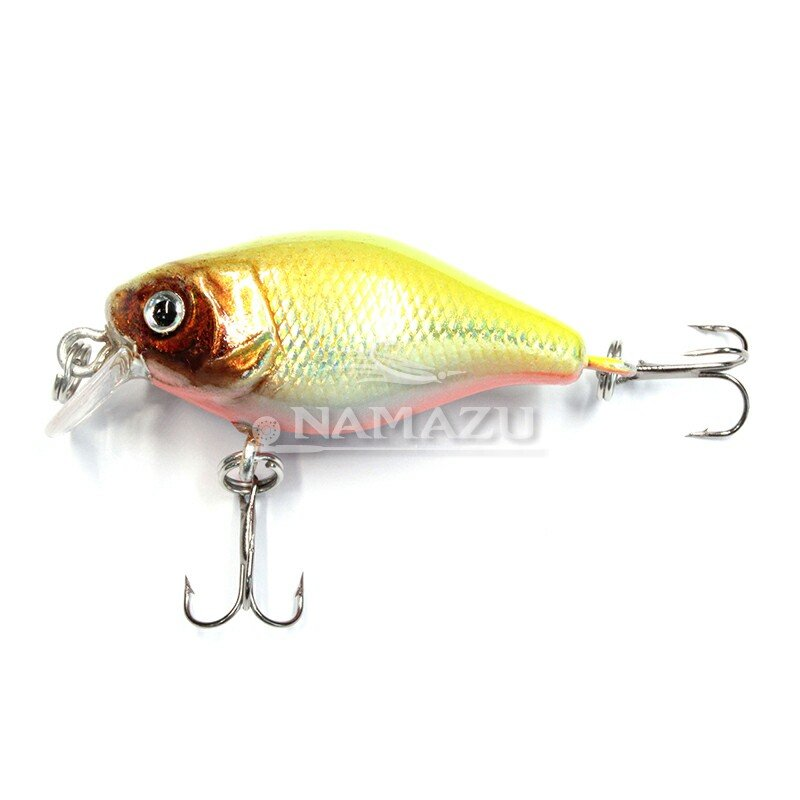 Воблер crank плавающий Namazu Heady Crank, L-45мм, 4,3г, (0-1,5м), цвет 2 N30-45-2