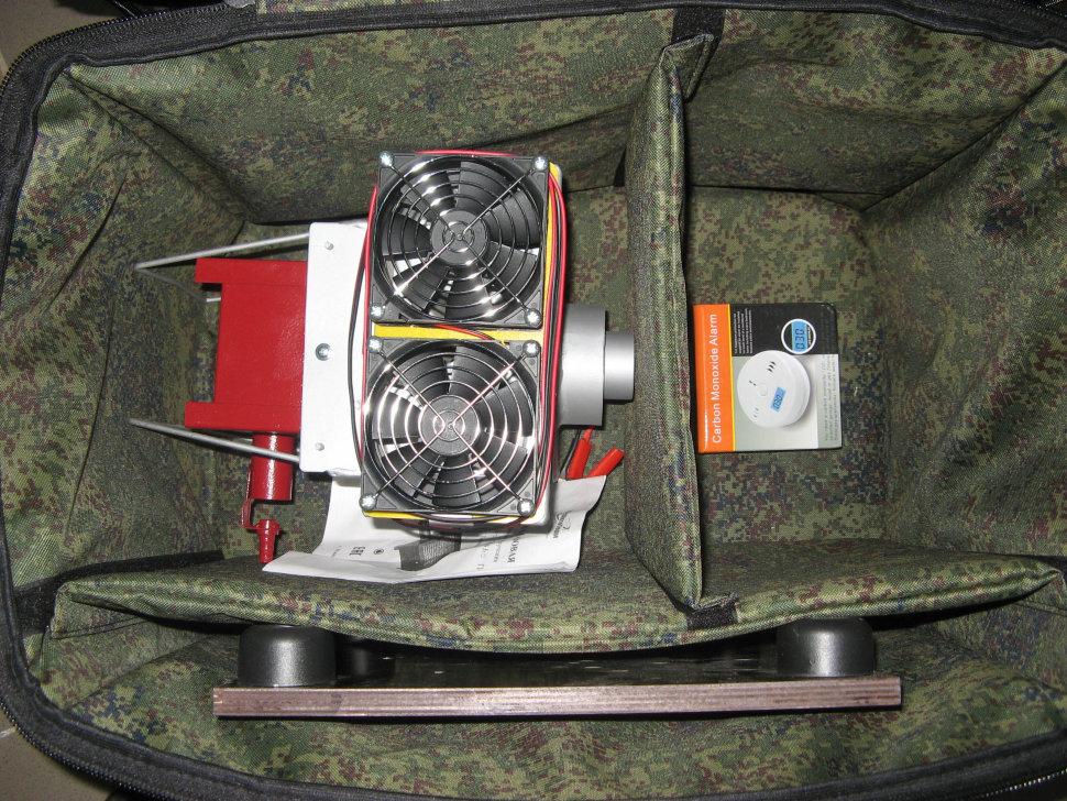 Купить Теплообменник в палатку Сибтермо СТ-1, 6 + горелка, сумка, подставка, датчик угарного газа. К-т 02, Форма одежды