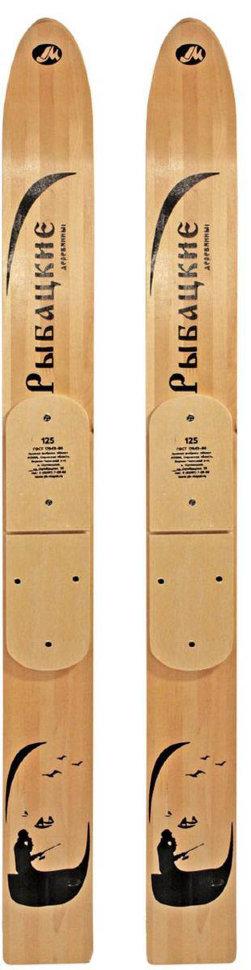 Лыжи Маяк Рыбацкие деревянные 125*11 см, Беговые лыжи - арт. 1127780419