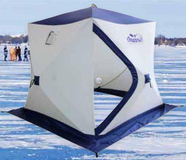 Зимняя палатка куб Следопыт Эконом 1,8*1,8 м PF-TW-08 трехслойная, Палатки - арт. 1147350162