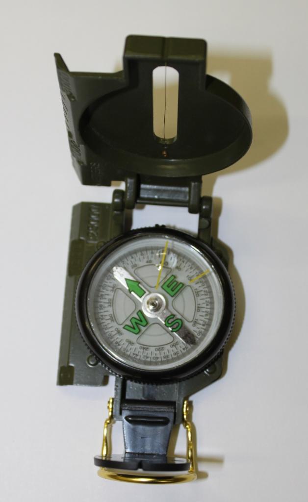 Компас SWD DC45-2B (жидкостной, мет. корпус с линейкой)