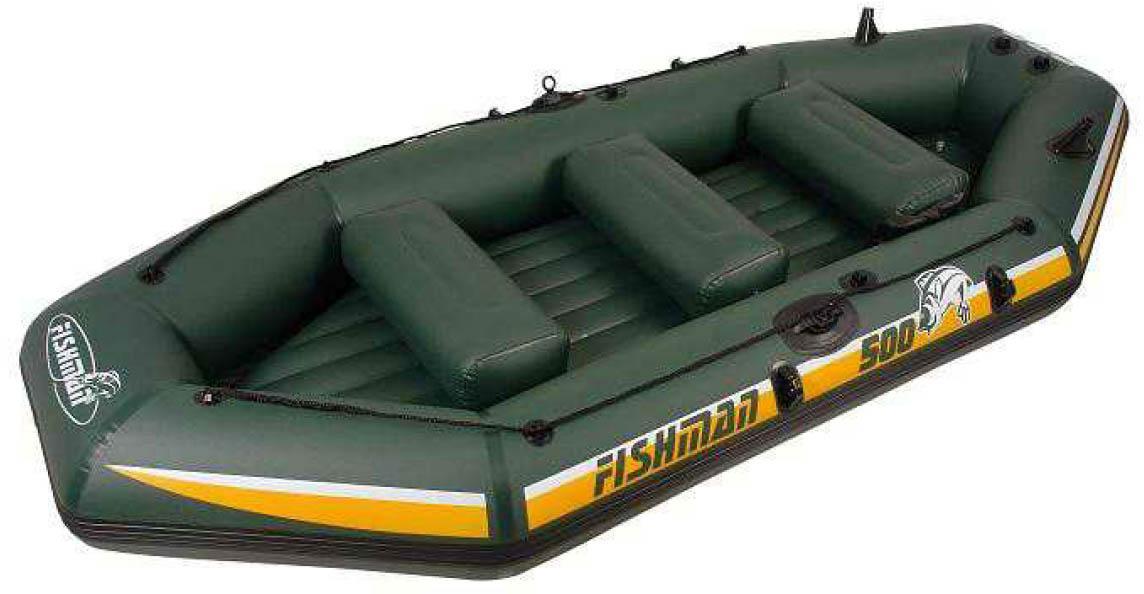 Лодка надувная Fishman II 500 BOAT (весла+насос) JL007212-1N, Лодки - арт. 389350222