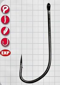 Крючок GAMAKATSU LS-1053N Ring Eye Serie №18 (10шт.)