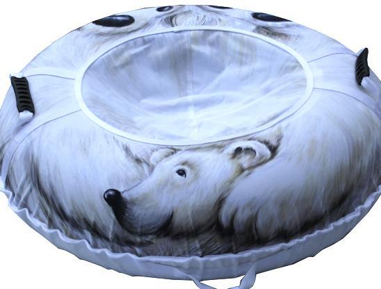 Тюбинг Белый медведь 110см., Санки, тюбинги - арт. 498750437