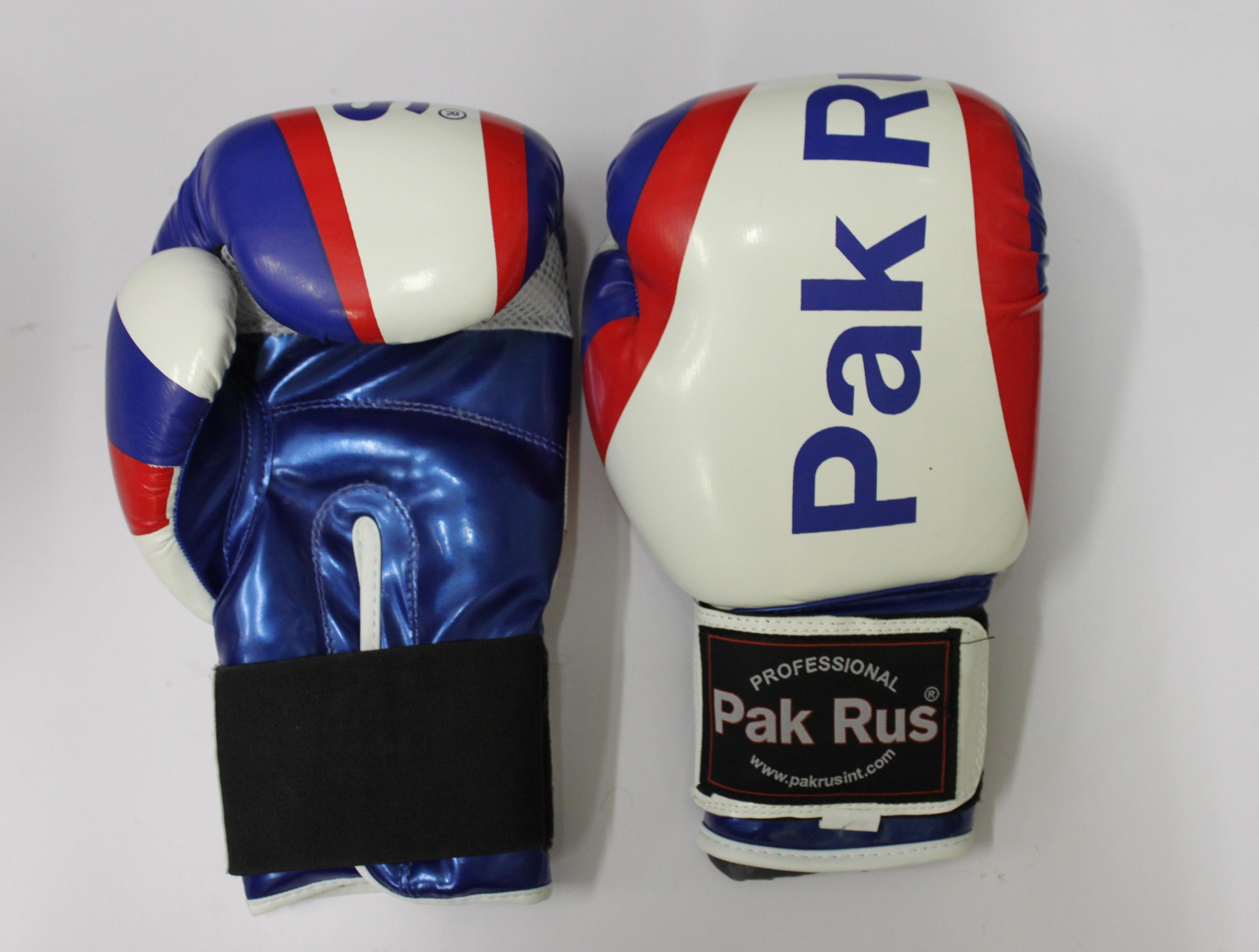Перчатки боксерские Pak Rus, искусственная кожа DX, 12 OZ триколор