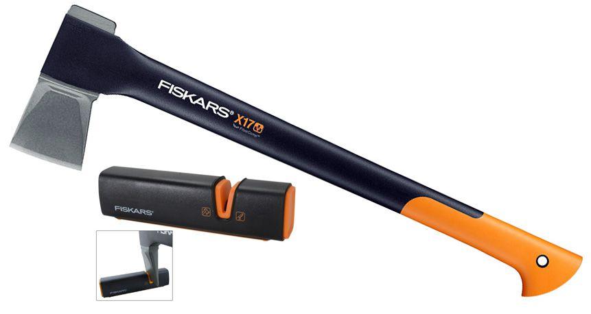 Топор-колун Fiskars Х17 +точилка для топоров (122466), Топоры - арт. 218480229