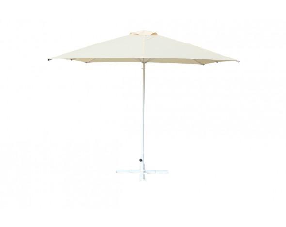 Зонт уличный Митек 2,5х2,5 м без волана, стальной, с подставкой,стойка 40мм.