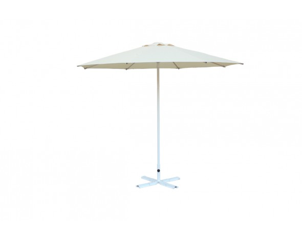 Зонт уличный Митек D2,5 м круглый без волана, стальной, с подставкой