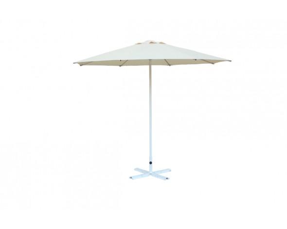 Зонт уличный Митек D2,5 м круглый без волана, алюминий, с подставкой