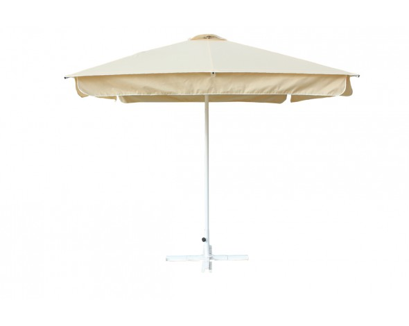 Зонт уличный Митек 2,5х2,5 м с воланом, алюминий, с подставкой