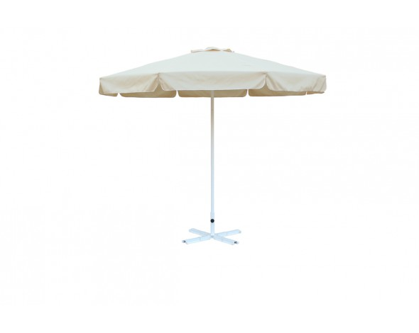 Зонт уличный Митек D3 м круглый с воланом, стальной с подставкой