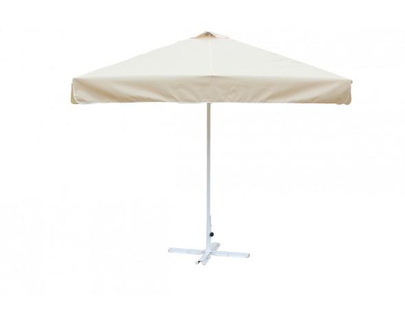 Зонт уличный Митек 2,5х2,5 м с воланом, стальной с подставкой,стойка 40мм.