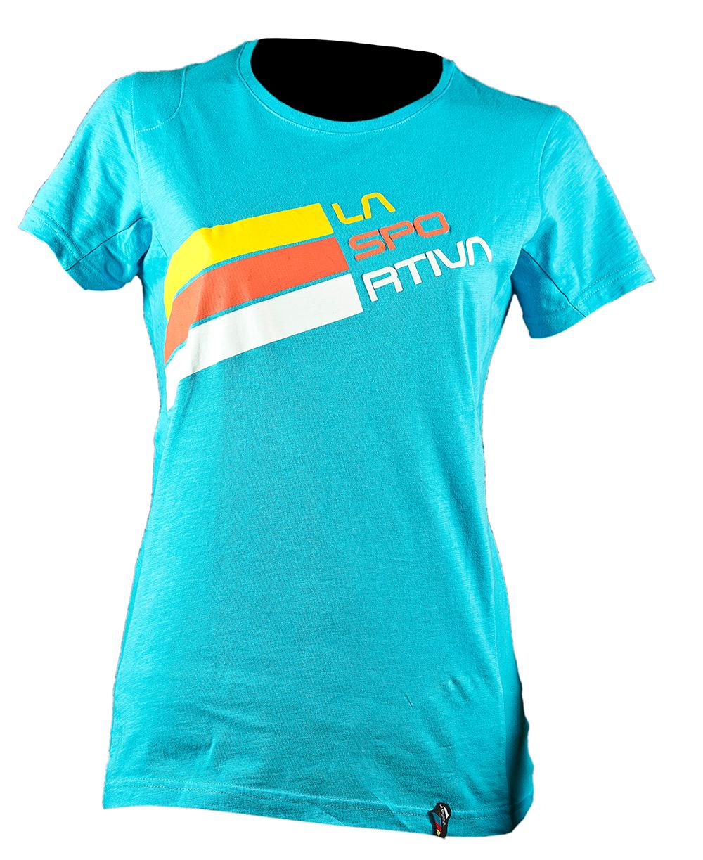 Купить Stripe Logo T-Shirt W Malibu Blue, La Sportiva