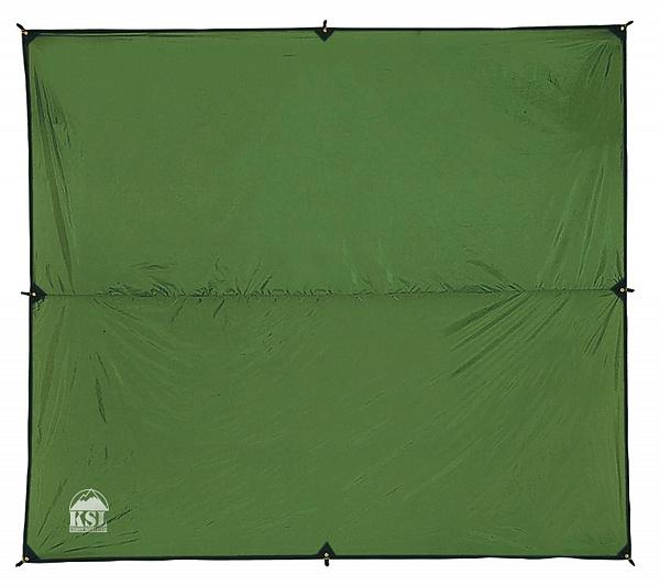 Легкий универсальный туристический тент KSL Awning 4x5 M зеленый