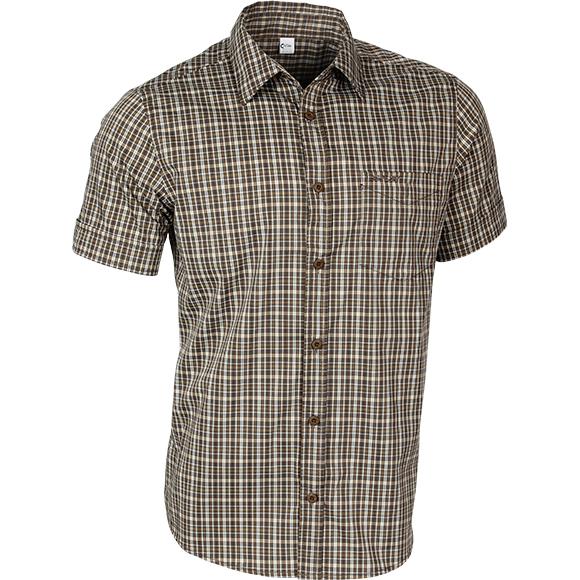 Рубашка мужская Sunburn клетка коричневая, Рубашки - арт. 224520163