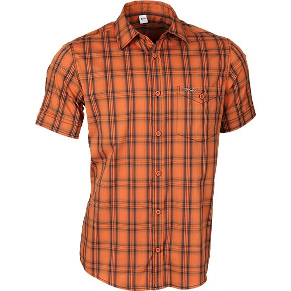 Рубашка мужская Sunburn клетка оранжевая