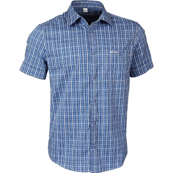 Рубашка мужская Sunburn клетка синяя, Рубашки - арт. 160800163