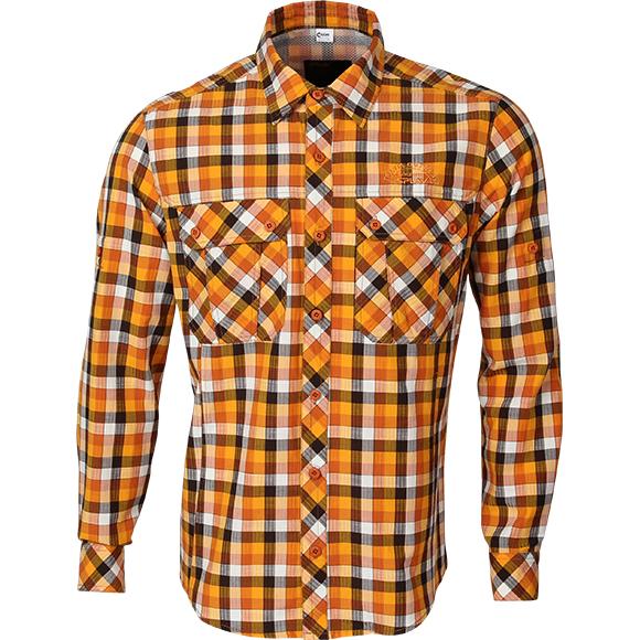 Рубашка Prairie клетка оранжевая, Рубашки - арт. 293110163
