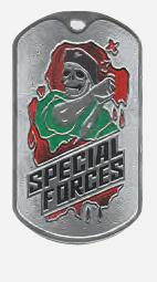 Жетон 2-5 SPECIAL FORCES черный берет металл