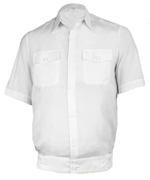Рубашка ПОЛИЦИЯ белая с коротким рукавом на резинке